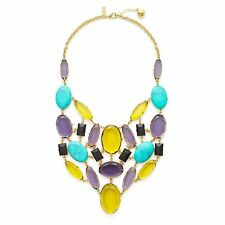 Kate Spade Kahina May Necklace NWT Beautiful Real Turquoise & Faceted Gem Beauty