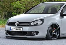 Spoilerschwert Frontspoilerlippe Cuplippe Splitter aus ABS für VW Golf 6 mit ABE