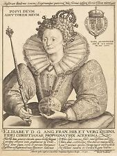CRISPIJN DE PASSE DUTCH ELIZABETH QUEEN ENGLAND OLD ART PAINTING POSTER BB5159A