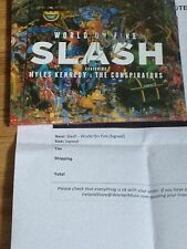 SLASH SIGNED CD BOOKLET WORLD ON FIRE-DELUXE PREORDER EXCLUSIVE-GUNS N ROSES