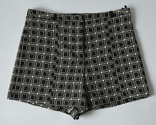 Ladies River Island Black & White Checked Shorts Size 14
