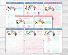 Pink Owl Baby Shower Games Pack - 8 Printable Games
