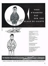 PUBLICITE  1960   UNION DES FABRICANTS DE TAPIS DE FRANCE à TOURCOING