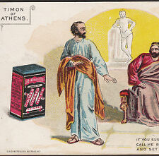 Shakespeare Theater Timon of Athens Libby Canned Meat Beef Tin Can Ad Trade Card