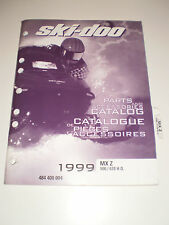 SKIDOO 1999 PARTS AND ACCESSORIES CATALOG MANUAL FORMULA DELUXE 500 LC  583 670
