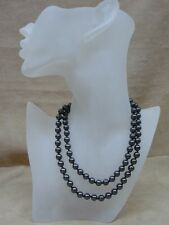 "BEAUTIFUL VINTAGE 1980'S 30"" HAND KNOTTED HEMATITE NECKLACE! MINTY!!"