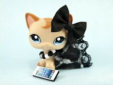 Littlest Pet Shop  Black Leopard Cloths Custom Accessories Dress Outfit Lot #62