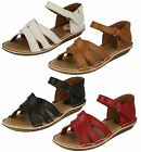 Ladies Clarks Tustin Sahara Tan, Red Or Off White Leather Sandals E Fitting