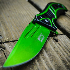 """8"""" M-Tech Spring Assisted Open Green Blade Combat Tactical Folding Pocket Knife"""