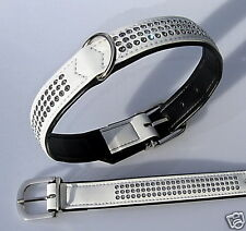 HUNTER Dog collar Swarovski Elements 42-50 weiss16750