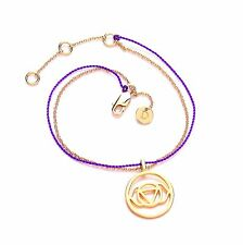 Daisy London SALE! Nuit Brow Chakra Bracelet with Gold Chain & Purple Cord