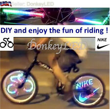 Cycling Bicycle Bike Wheel 48 Led patterns Light Lamps custom Programmable load