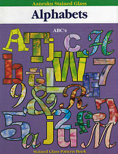 Aanraku ALPHABETS Stained Glass Pattern Book Funky Block Script Horizontal Fonts