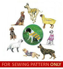 SEWING PATTERN!  FITS LARGE DOGS! MAKES COAT & HOOD~BACKPACK VEST~TEE/T-SHIRT!