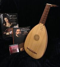 ROOSEBECK DESCANT LUTE (Barely played), 7-COURSE, Gig Bag, 2 Books, New Strings