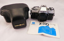 Minolta X-370 35mm Film Chrome Camera Body~ Outstanding Condition!