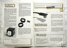 Publicité Pub Audio Contacts Magazine n°1 1982 cellules Grado an. 80  Hifi Audio