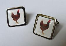 Único! Pollo Gemelos Cromo británico Huevos Gallina Granja Bird Novedad
