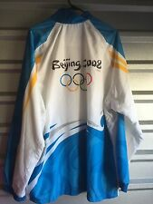 2008 Beijing Olympics Adidas Track Jacket 5x  Blue White Games Sports Asia China