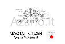 Movimento al quarzo Chrono MIYOTA 0S21 OS21 movement quartz for watch Japan Made