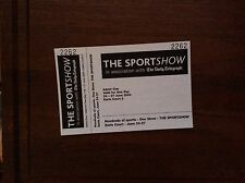 The Sports Show 2004 (Earls Court) unused Ticket