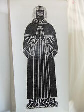 Brass rubbing TURVEY BEDFORDSHIRE Anonymous possible John Crosse RECTOR1517 10/1