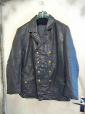 VINTAGE POST WW2 GERMAN LEATHER POLICE OFFICERS JACKET SIZE L riri zip