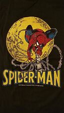 Rare Vintage 80s 1988 Spiderman T-Shirt Marvel Comic Book Movie TV Screen Stars