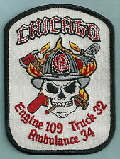 CHICAGO FIRE DEPARTMENT ENGINE 109 TRUCK 32 COMPANY PATCH