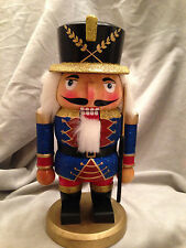 "Guard Nutcracker Wooden Rifle Christmas Holiday Decoration 10"" Multi-Colored"