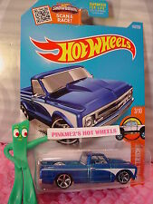 Case F 2016 Hot Wheels '67 CHEVY C10 pickup #143 ✰ Blue;White; mc5✰HOT TRUCK