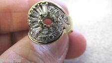 """14k Gold Baguette Diamond Mounting  VS1  """" Needs Center Gemstone""""   Make Offer"""