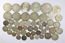 Vintage Silver World Coin Lot of (49) Mixed Silver Foreign Coins 255 grams