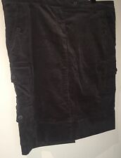 Rivers Brand Size 12 Brown Corduroy Skirt Pockets And Button Detail
