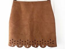 NEW AW16 FALMER HERITAGE Size 12 14 16 18 Faux Suede 70's Cut Out SKIRT Matalan