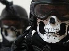 Skull Half Face Bandana Skeleton COMBAT Motorcycle Biker Paintball Mask Scarf
