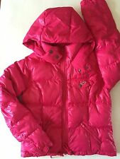 NWT HOLLISTER COAT JACKET  WOMENS MEDIUM PINK JACKET HOODED COAT HOOD DARK PINK