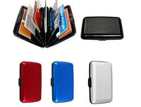 Waterproof Metal Aluminium Business Id Credit Card Holder Wallet Pocket Case Box