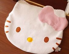 Large Big Head Hello Kitty Fuzzy Floor Cushion Mat Pad Bedroom Living room Rug