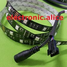 5M 5050 RGB Black PCB LED Strip Light 6803 IC Magic Dream Color Non-Waterproof