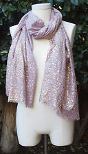 Vismaya Brand Wrap Shawl Stole Scarf Gold Foil Leopard Sold @ Anthropologie