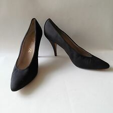 """NORMA B WOMEN SHOES HEELS 4"""" BLACK SEXY POINT- TOES SIZE 9AA VTG"""
