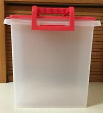 Tupperware Large Carry-All w removable handle toys cars legos crafts cleaning
