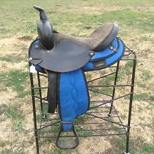 "Used 15.5"" blue/black Western trail/pleasure saddle US made Saddle King of Texas"