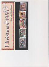 1986 Royal Mail presentación Pack Navidad Folk aduanera Perfecto decimal Sellos