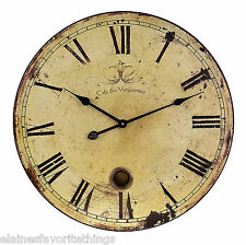 LARGE TUSCAN OR FRENCH COUNTRY OLD WORLD PENDULUM WALL CLOCK