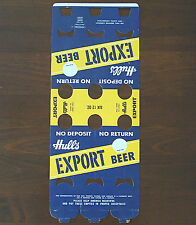 UNUSED HULL'S EXPORT BEER 6 PACK BOTTLE CARTON (HULL BREWING CO., NEW HAVEN, CT)