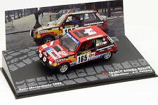 Talbot Samba Rallye #165 Rally de Monte Carlo 1984 delecour, Pauwels 1:43 Altaya
