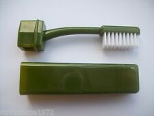 NEW - BCB Compact Olive Green Folding Travel Toothbrush - Camping