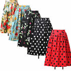 Vintage style 50s Housewife Skirt Pinup Summer Swing Midi Dress Skirt